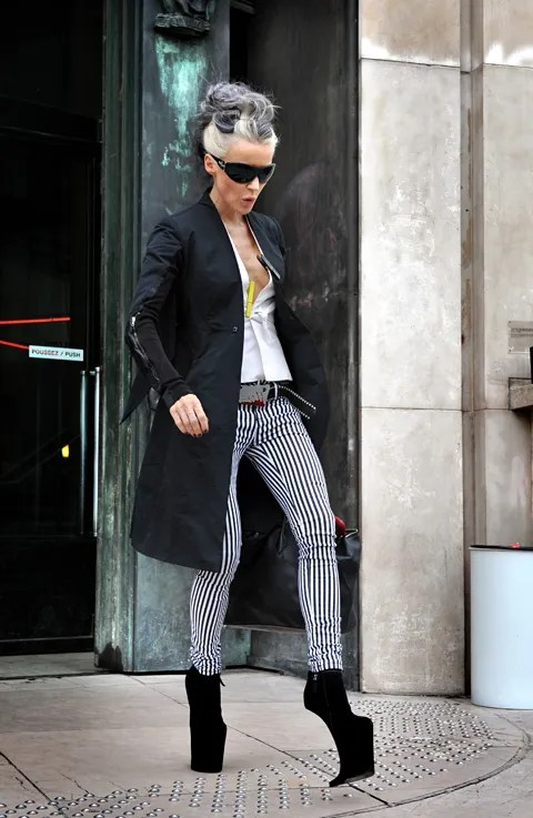 Daphne Guinness wearing Nina Ricci shoes