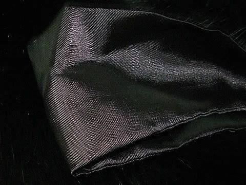 Black fox fur collar.