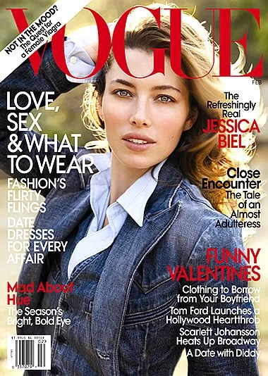 Jessica Biel for US Vogue February 2010 cover