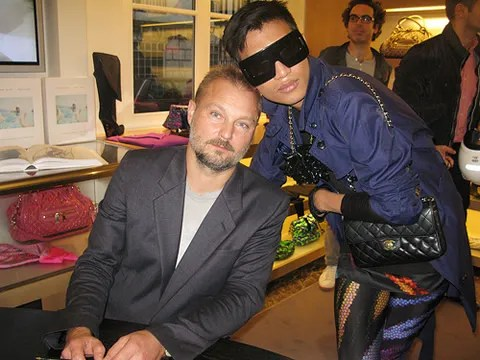 photo of Juergen Teller and Bryanboy at Marc Jacobs Advertising Book signing event at Marc Jacobs Palais Royal Paris