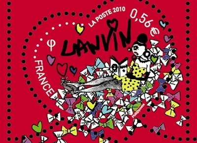 Lanvin postage stamps La Poste 2010
