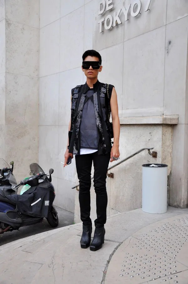 Bryanboy in Rad Hourani