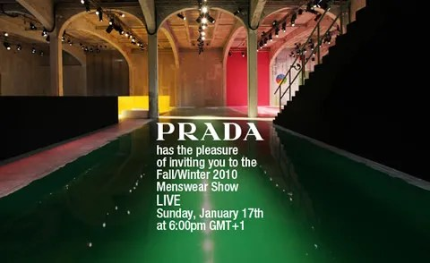 prada invitation menswear fashion show