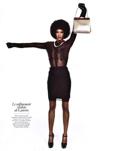 Sessilee Lopez for Vogue Paris, August 2009