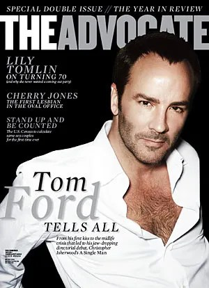 Tom Ford cover of The Advocate magazine