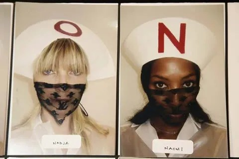 Swine Flu Philippines. Photo of Louis Vuitton nurse mask