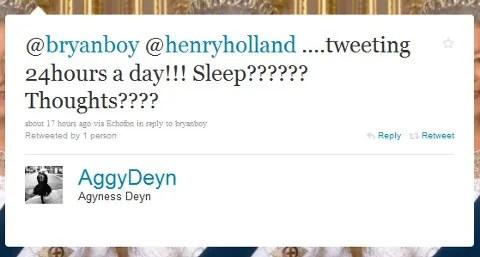Agyness Deyn twitter