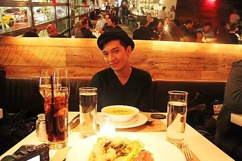 Bryanboy at Delicatessen restaurant