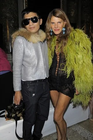 Bryanboy and Anna Dello Russo at Emilio Pucci Spring Summer 2011