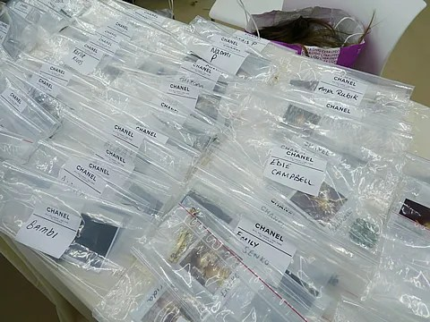 hair accessories backstage at Chanel spring summer 2011