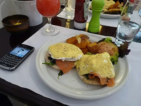 Eggs Benedict with Salmon at Apartment 1B Makati, Manila