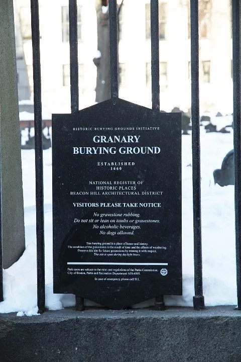 Boston Granary Burying Ground