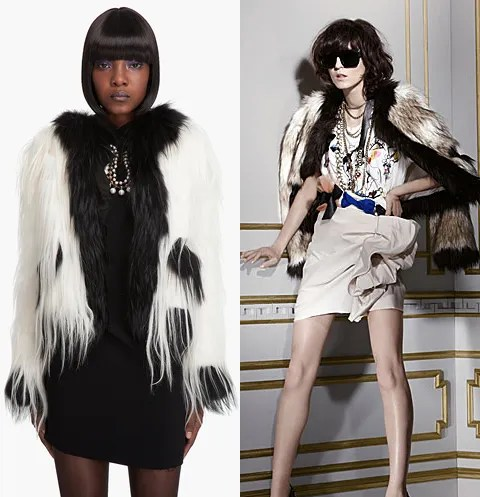 Lanvin fur jacket, Lanvin x H&M faux fur jacket