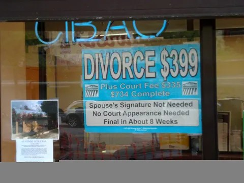 price of divorce in New York city