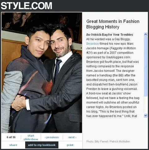 Style.com Great Fashion Blogging Moments