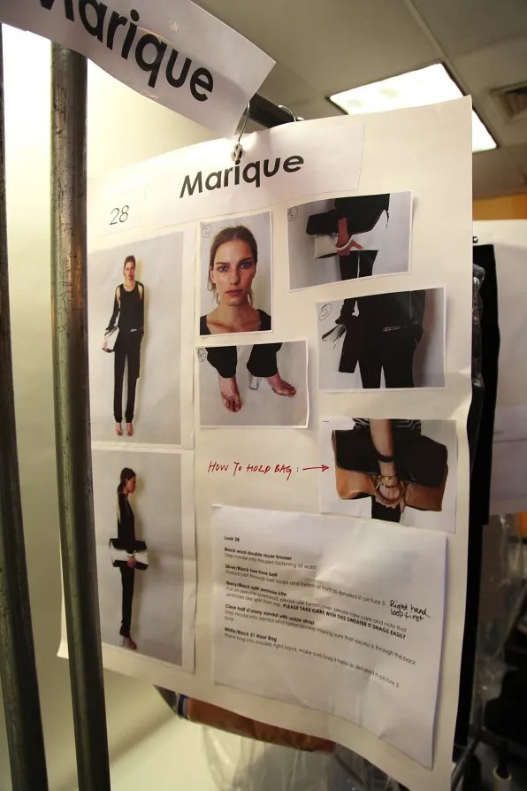 Model Marique's dressing board