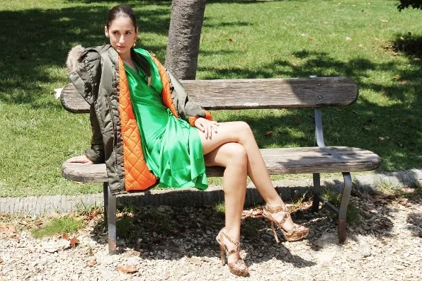 Green Lanvin dress from fall/winter 2011 collection