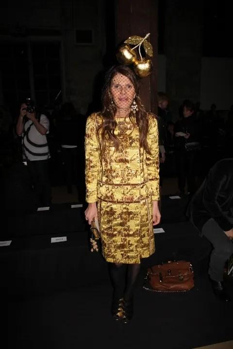 Anna Dello Russo at Isabel Marant Fall Winter 2011