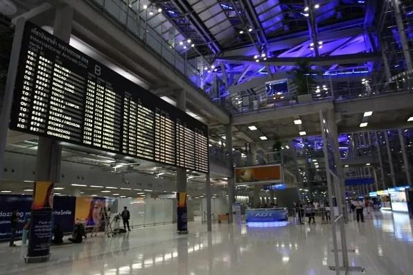 Bangkok Airport Departures Area
