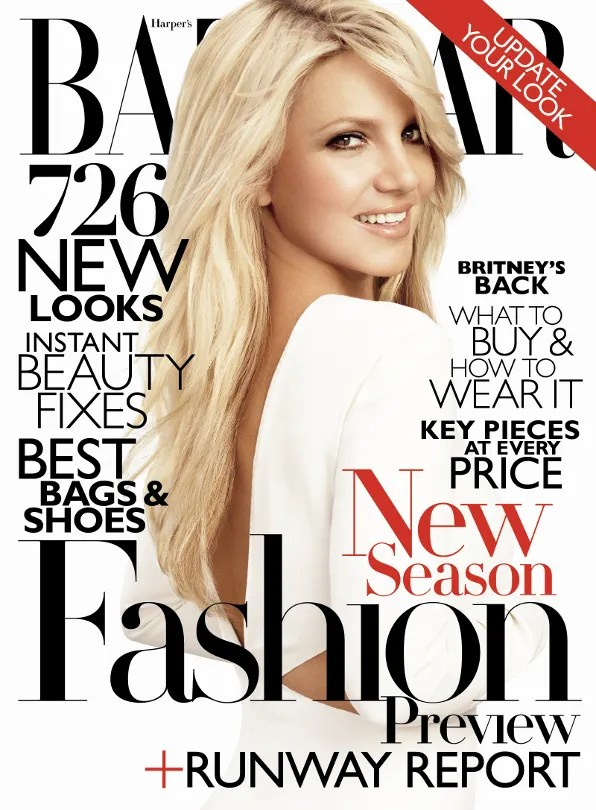 Britney Spears cover of Harper's Bazaar June/July 2011 issue