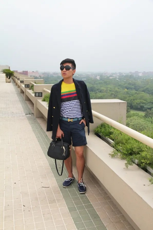 Bryanboy at the rooftop of the Oberoi Hotel, New Delhi