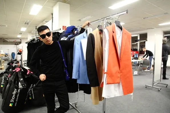 Bryanboy at his HUGO by Hugo Boss fitting in Berlin
