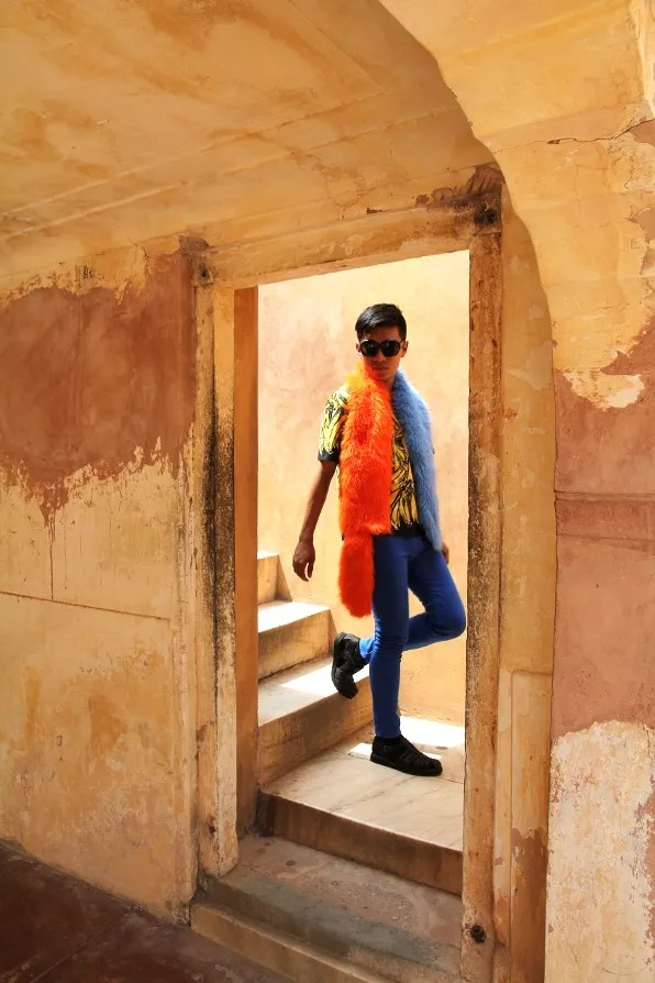 India Golden Triangle Tour - Bryanboy in Amber Palace in Jaipur