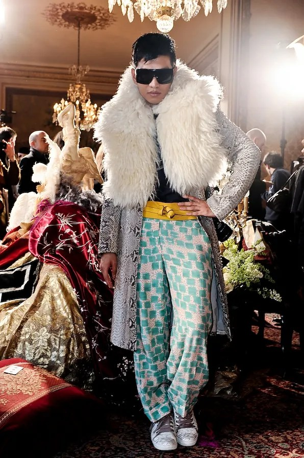 Bryanboy wearing Michael Kors at John Galliano fall winter 2011 show