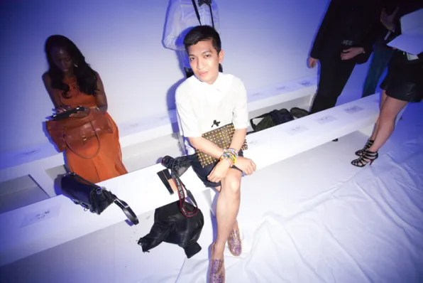 Bryanboy waiting for Kanye West spring summer 2012 fashion show to start.