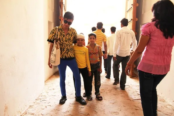 Bryanboy with little boys in Jaipur