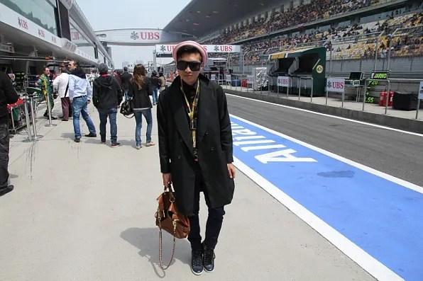 Bryanboy at Formula 1 Pitlane Walkabout