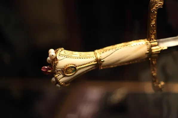 Embellished sword handle