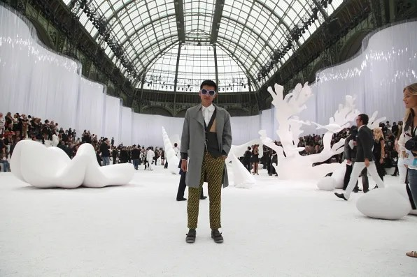 Grand Palais transformed into an aquarium for Chanel spring/summer 2012