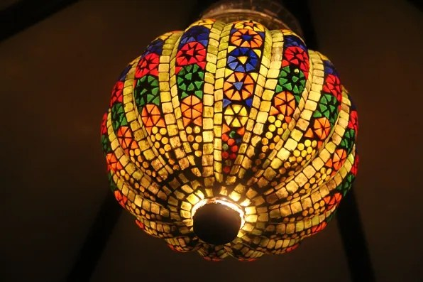 Colourful indian lamp