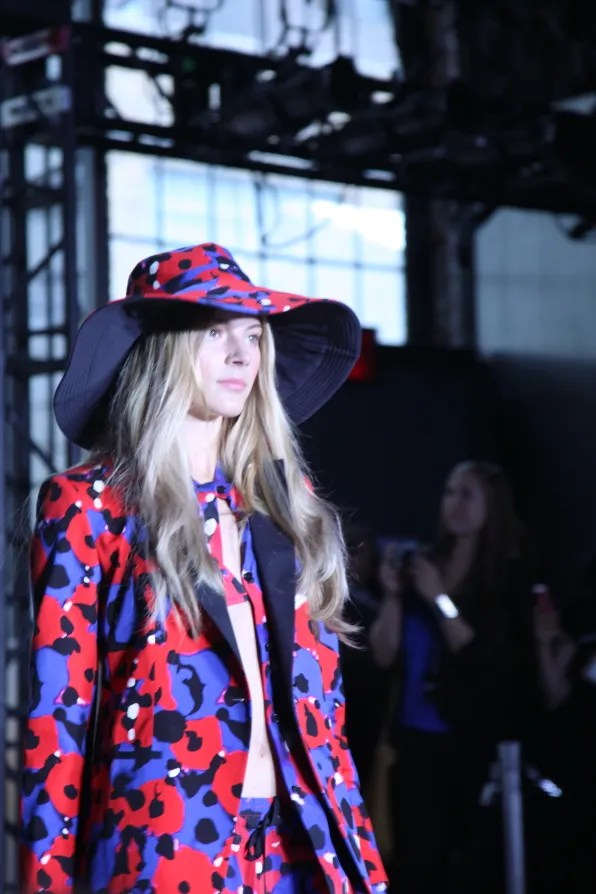 Poppy print suit at DKNY spring summer 2012