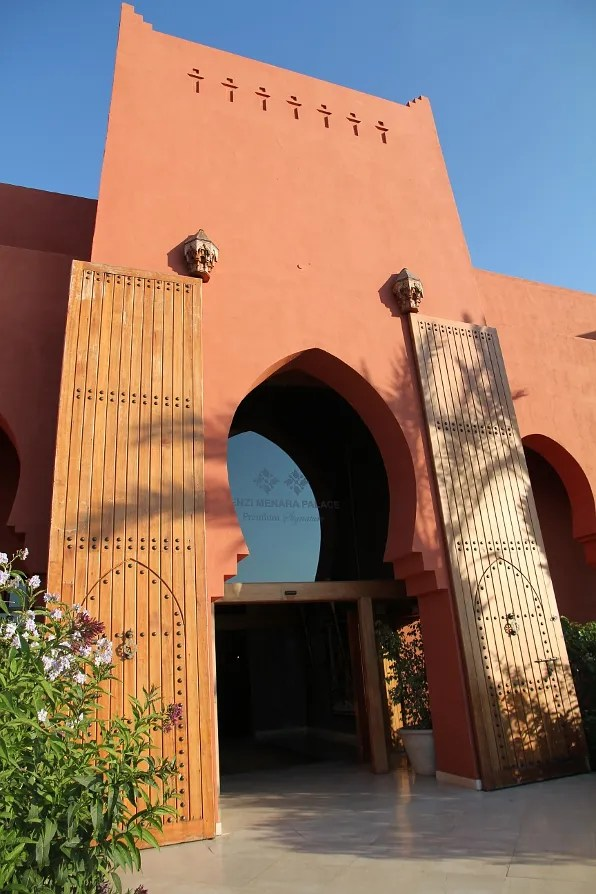 Entrance of Kenzi Menara Palace Hotel