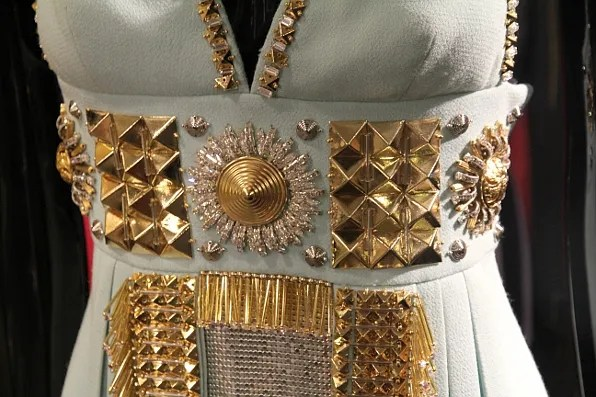 Fausto Puglisi fall winter 2011 dress bust close-up