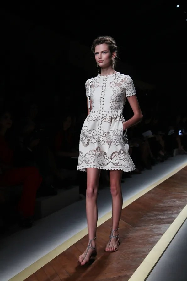 First Look - Valentino spring/summer 2012 white dress