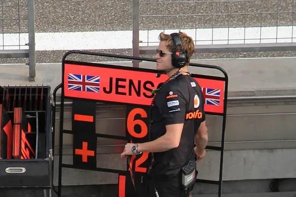 Team Jensen Mechanic at Formula 1 Shanghai