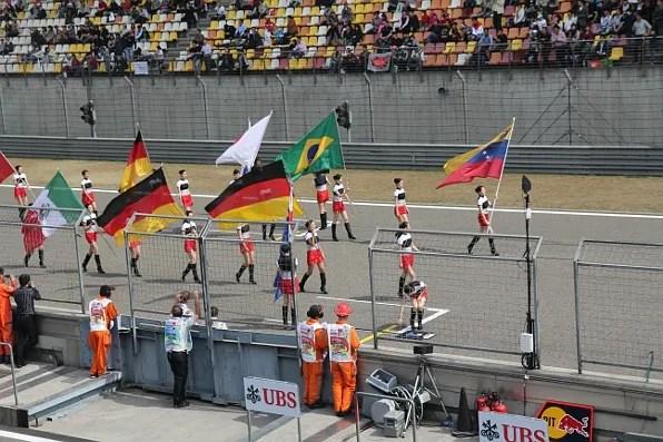 Flag Parade at Formula 1