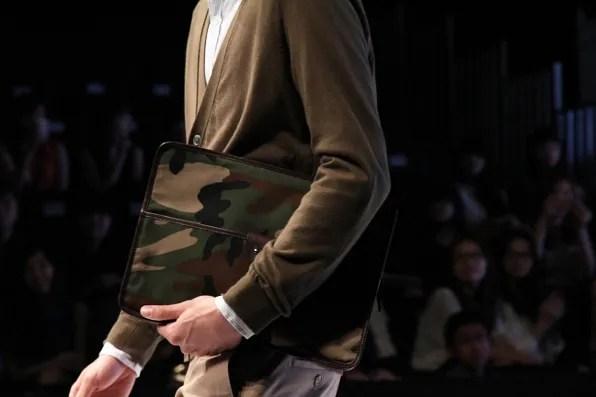 JBB* by Jirawat Bote Benchakarn camouflage envelope clutch bag