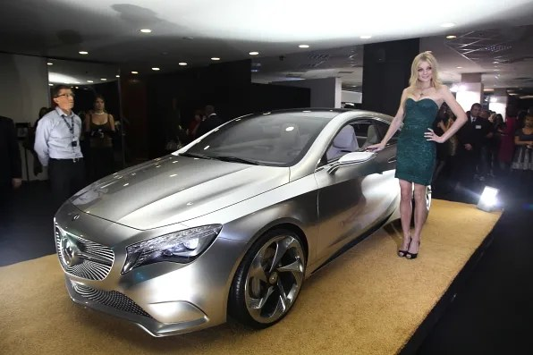Jessica Stam with Mercedes-Benz A Class