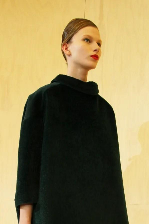 A coat dress from Jil Sander Fall Winter 2011 2012