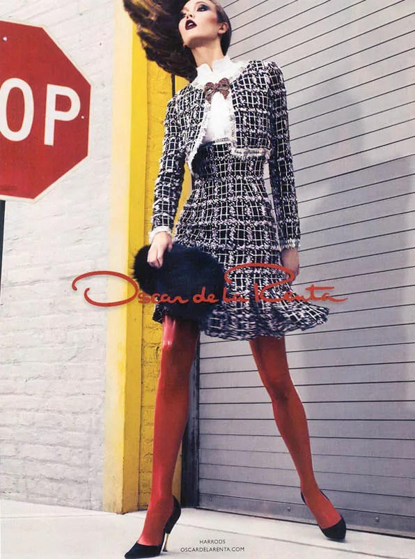 Karlie Kloss for Oscar de la Renta ad campaign fall winter 2011