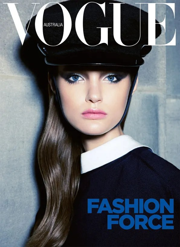 Katie Fogarty for Vogue Australia September 2011 cover