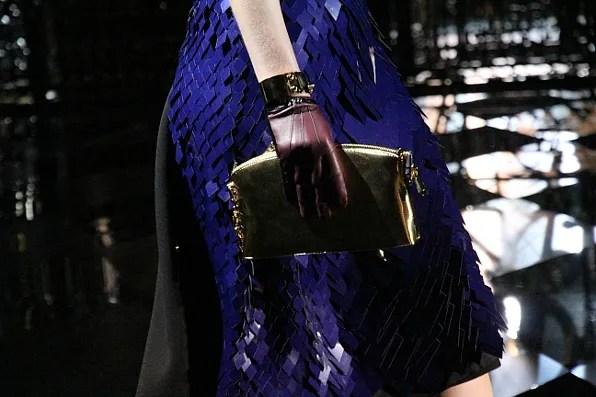 Blue sequined Louis Vuitton skirt