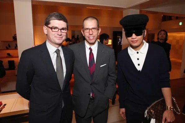 Frederic Grangie, Jonathan Newhouse and Bryanboy at Louis Vuitton Omotesando Tokyo