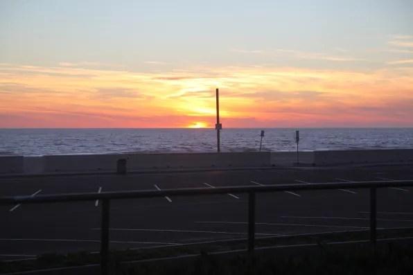 Sun down in Malibu, California