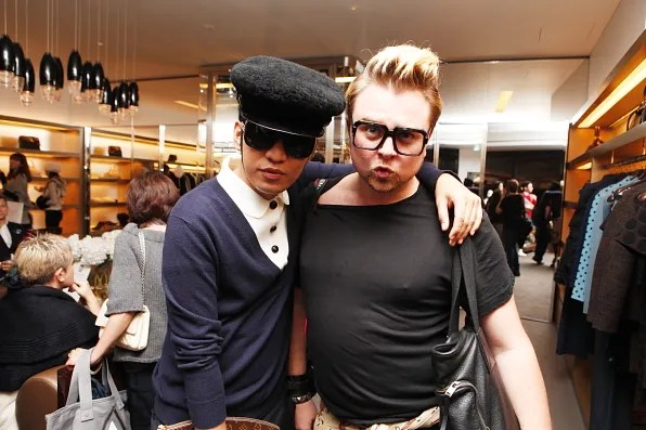 Bryanboy and Dan Bailey of Tokyo Dandy at Marc Jacobs Tokyo