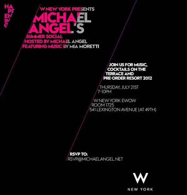 Michael Angel's Summer Social invitation